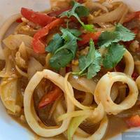 プラームック・パッ・カイケム (Pla Meuk Phad Kai Kem/ปลาหมึกผัดไข่เค็ม)