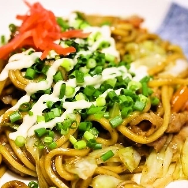 太麺焼きそば炙りねぎマヨ