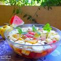 【レシピ】黒砂糖で♪ミント風味のフルーツサラダ