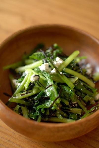 小松菜のしゃきしゃきサラダ 二種♡ Japanese Spinach Salads