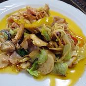 エリンギと野菜のマヨ炒め