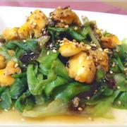 レタスとふわとろたまごの花椒オイスター炒め