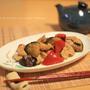 茄子と豚肉のカレー照り焼き