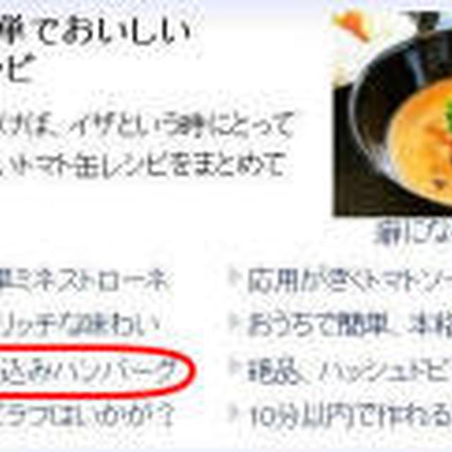 【レシピ】煮込みハンバーグ