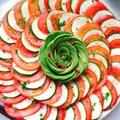 ズッキーニとトマトのサラダとアボカドローズ