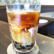 運動会☆タピオカアイスコーヒー〜暑くてカフェに避難