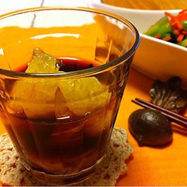 甘夏+赤ワインのサングリア