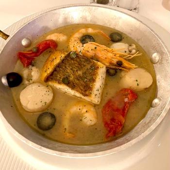 魚介旨味たっぷりアクアパッツァ 、黒酢酢豚☆ルームサービス@セルリアンタワー東急ホテル