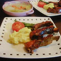 ポークバックリブ(スペアリブ)と白菜のクリーム煮
