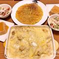 淡路島玉ねぎとえのき茸のチキンドリアに、ライプペッパー風味のじゃがいものガレットなど、洋食晩ごはん by manaさん