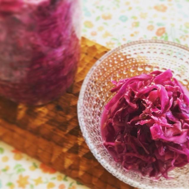 【腸活みそレシピ】紫キャベツの味噌ザワークラウト