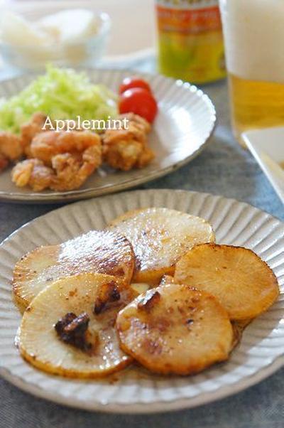 クリアアサヒがおいしい♪バター醤油大根&もやしとハムときゅうりの中華和えサラダ