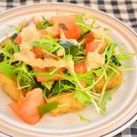 厚揚げとトマトの胡麻味噌サラダ
