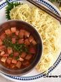 トマトたっぷり!ピリ辛つけ麺