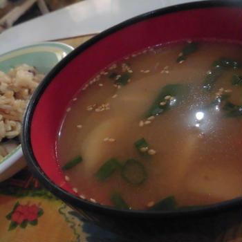 マコモタケの豚汁