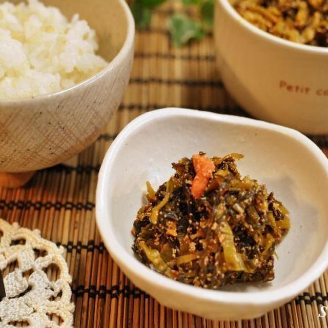 自家製明太子高菜と生姜の甘酢漬け