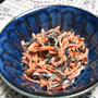 ひじきと人参の明太マヨサラダ。明太子のふりかけを使って簡単おつまみ。