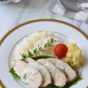 炊飯器で!ハーブチキンプレート(ハーブチキン&ポテトサラダ&ごはん)