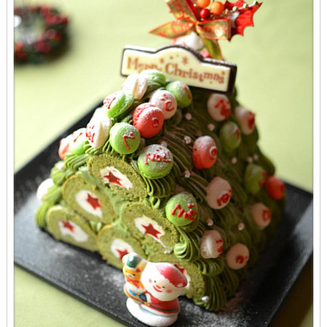 ✽3D・クリスマスツリーのブッシュ・ド・ノエル✽