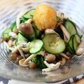 胡瓜とシメジのおろしポン酢和え