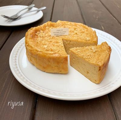 【材料3つ】キャラメル風味のベイクドチーズケーキ