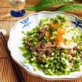 山盛り小ねぎの牛肉おろしポン酢 by 庭乃桃さん