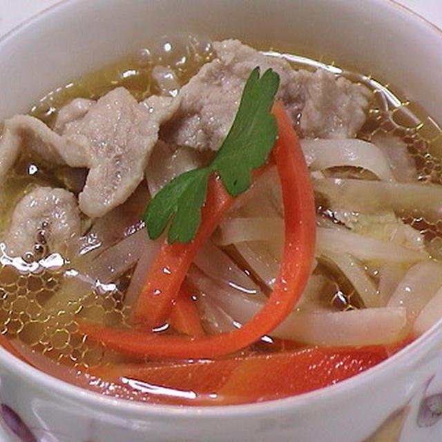 健康法師の 大根の皮入りスープ