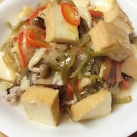 鯖と厚揚げの野菜あんかけレシピ♪