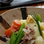 白醤油肉じゃが、生姜風味