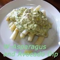 ホワイトアスパラとアボガドのディップ