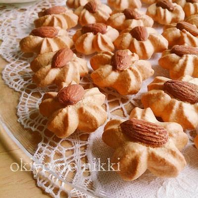 ノンオイル♪カリカリアーモンドクッキー