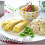 ルクエで「ふんわり鶏ねぎ卵」 和なワンプレート朝ごはん