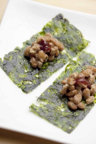 納豆の韓国海苔巻き