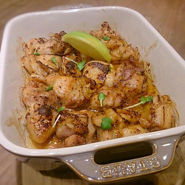鶏のスパイス醤油焼き