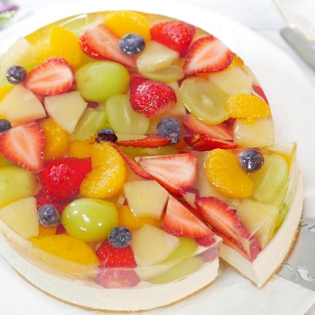 フルーツレアチーズケーキの作り方