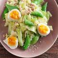 【レシピ】少し早い春気分^^キャベツとスナップエンドウのツナサラダ