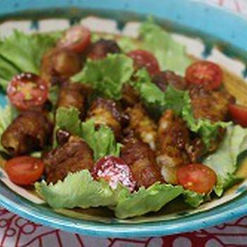 カレー風味の山芋の肉巻き
