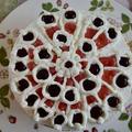 ノートルダム大聖堂のステンド・グラスとイースターのデザート