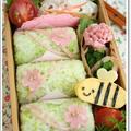 お花見に♪春色おにぎりのお弁当(キャラ弁)
