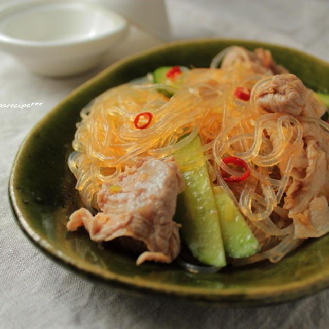 韓国風はるさめサラダ。