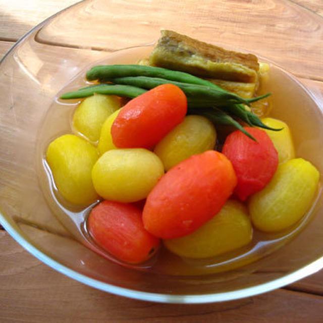 夏野菜の冷たい洋風煮びたし