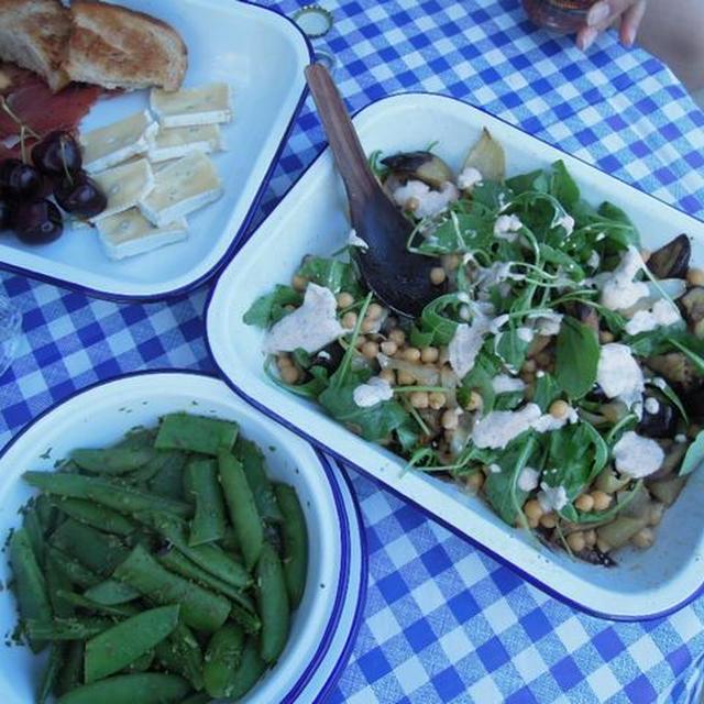 茄子とミントのサラダ