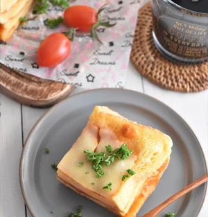 レンチン4分!食パンで簡単♪ラザニア風