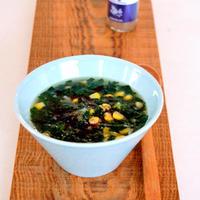 モロヘイヤのスタミナスープ 花椒風味
