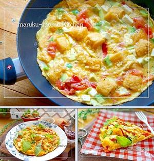 簡単!2分の火入れ*卵と食パンで作る『オムピザ』赤ワインソース&イラスト