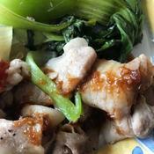 豚バラ肉の梅ソース味