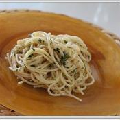 辛子明太子と梅肉とパセリの冷製カッペリーニ