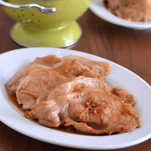 豚肉のはちみつしょうが焼きのごはんと、黒酢鶏の作り置き。