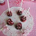 バレンタインのケーキポップ
