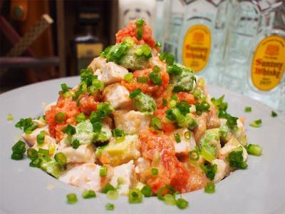 【レシピ】鶏ハムとアボカドの明太マヨサラダ